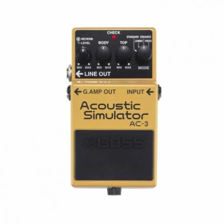 Efectos para Guitarra BOSS PEDAL EFECTO ACOUSTIC SIMULATOR MOD. AC-3  8300020 - Envío Gratuito