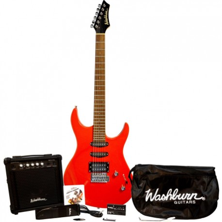 Guitarra Eléctrica WASHBURN GUITARRA WASHBURN ELECTRICA RX10PAK ISWASRX10PAKFER - Envío Gratuito