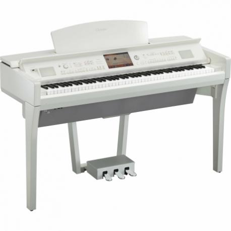 Pianos Digital YAMAHA Piano clavinova CVP Profesional Blanco Brillante  NCVP709PWH - Envío Gratuito