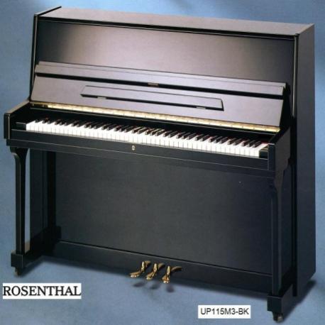 Pianos Acustico ROSENTHAL PIANO VERTICAL 115M3 NEGRO ESTUDIO C/BANCA ROSENTHAL  UP115M3-NEG - Envío Gratuito