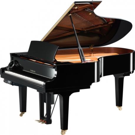 Pianos Acustico YAMAHA Piano Disklavier de cola E3 200 cm Serie X Negro Brillante, incl. Banco y 2 bocinas MSP3  PDC5XE3PESET -