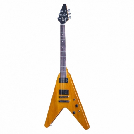 Guitarra Eléctrica GIBSON Flying V Faded 2016 Limited Run Vintage Amber  DSVF16VACH1 - Envío Gratuito