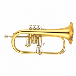 Flugerhorn YAMAHA Fluegelhorn Bugle Profesional en Bb, campana en latón dorado (Gold-brass) BYFH631G - Envío Gratuito