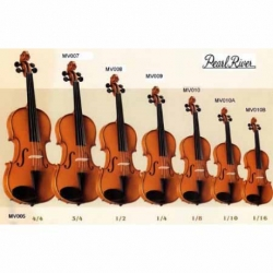 Violin PEARL RIVER VIOLIN ESTUDIANTE 1/8 NATURAL C/ ESTUCHE  MV010 - Envío Gratuito