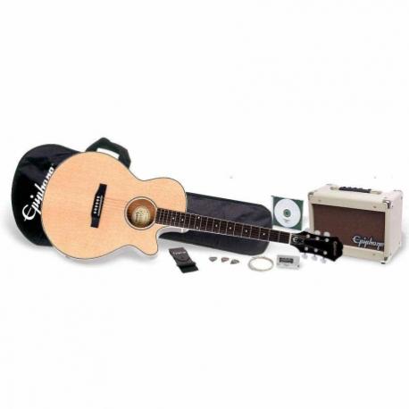 Guitarra Eléctrica GIBSON PR-4E Acoustic Electric Player Pack PPGR-EEP4NACH1 - Envío Gratuito