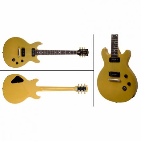 Guitarra Eléctrica GIBSON LES PAUL SPECIAL DOUBLE 2015 YELLOW  LPSD15YTSN1 - Envío Gratuito