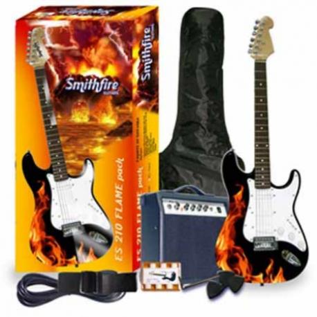 Guitarra Eléctrica SMITHFIRE GUITARRA SMITHFIRE ELECT. ES210 FLAMA PK ISSMIES210FLAM - Envío Gratuito