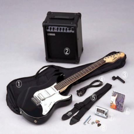 Guitarra Eléctrica YAMAHA Paquete de Guitarra Eléctrica, amplificador y accesorios caratula blanca GEG112GPII - Envío Gratuito