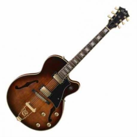 Guitarra Eléctrica CORT GUITARRA ELEC. SOMB. CAOBA MOD. YORKTOWN DVS 8214025 - Envío Gratuito