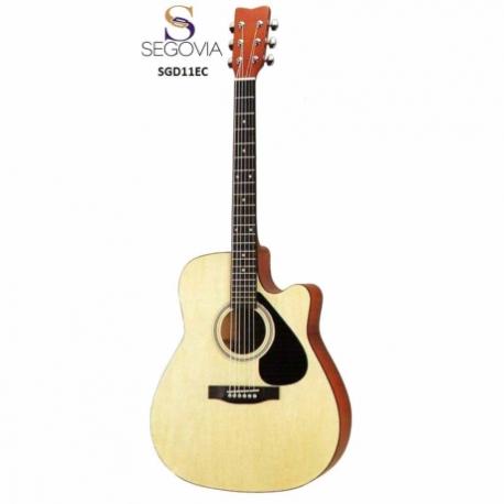 Guitarra Electroacustica SEGOVIA GUITARRA TEXANA E/ACUSTICA NAT C/ RESAQUE 6 CDAS  SGD11EC - Envío Gratuito