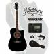 Guitarra Electroacustica WASHBURN GUITARRA WASHBURN E/ACUSTICA WA90CEPAK  ISWASWA90CEPAKBLK - Envío Gratuito