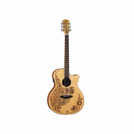 Guitarra Electroacustica LUNA GUITARRA ELECTROACUSTICA LUNA NYLON HENNA NAT. MOD. HEN O2 NYL 8202888 - Envío Gratuito