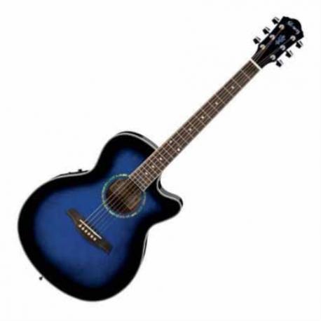 Guitarra Electroacustica IBANEZ GUITARRA ELECTROACUSTICA AZUL MOD. AEG10E-TBS 8205378 - Envío Gratuito
