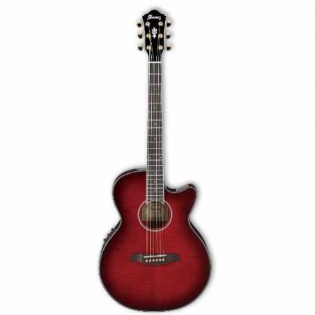 Guitarra Electroacustica IBANEZ GUITARRA ELECTROACUSTICA ROJA TRANSP. MOD. AEG24II-THS  8213238 - Envío Gratuito