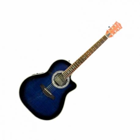 Guitarra Electroacustica CARAYA GUITARRA ELECTROACUSTICA AZUL TRANSP. C/ESTUCHE MOD. SP721CEQ/TBLS  8213476 - Envío Gratuito