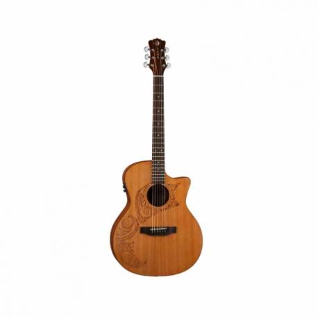 Guitarra Electroacustica LUNA GUITARRA ELECTROACUSTICA LUNA ORACLE TATTOO NAT. MOD. OCL TAT CDR  8202893 - Envío Gratuito