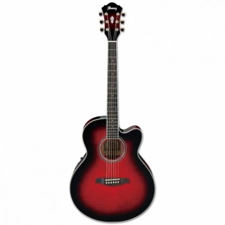 Guitarra Electroacustica IBANEZ GUITARRA ELECTROACUSTICA ROJA SOMB. MOD. AEL20E-TRS  8202936 - Envío Gratuito