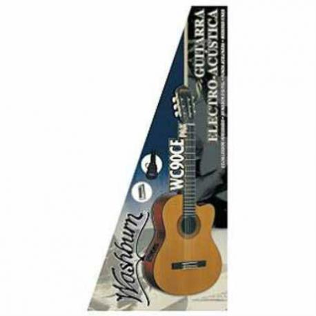 Guitarra Electroacustica WASHBURN GUITARRA WASHBURN E/ACUSTICA WC90CEPAK  ISWASWC90CEPAK - Envío Gratuito