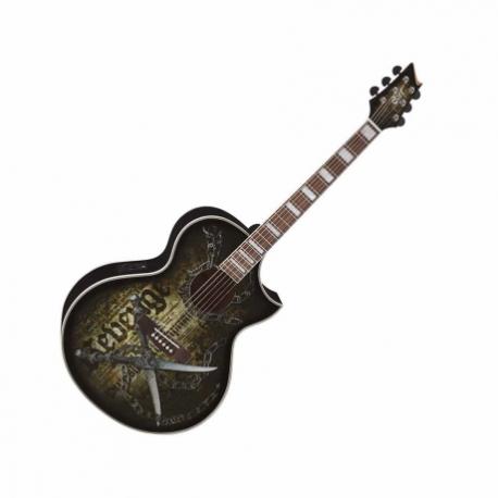 Guitarra Electroacustica CORT GUITARRA ELECTROACUSTICA REVENGE NGA. MOD. NDXCQ BK  8202952 - Envío Gratuito