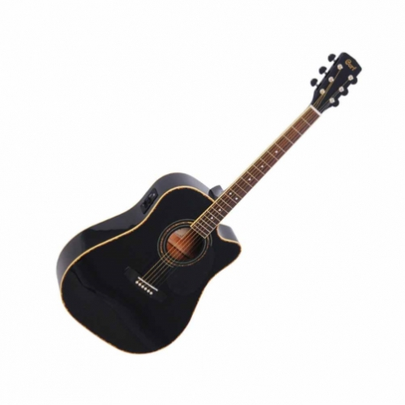 Guitarra Electroacustica CORT GUITARRA ELECTROACUSTICA NGA. C/FUNDA MOD. AD880CE BK  8202917 - Envío Gratuito
