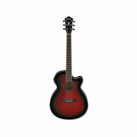 Guitarra Electroacustica IBANEZ GUITARRA ELECTROACUSTICA AEG ROJA TRANSP. MOD. AEG10II-TRS 8202899 - Envío Gratuito