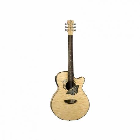 Guitarra Electroacustica LUNA GUITARRA ELECTROACUSTICA LUNA FAUNA BUTTERFLY NAT. MOD. FAU BTFLY 8202881 - Envío Gratuito