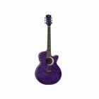 Guitarra Electroacustica LUNA GUITARRA ELECTROACUSTICA LUNA ECLIPSE FOLK PURPURA MOD. FAU ECL TPP  8202883