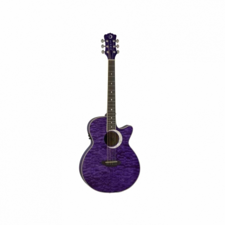 Guitarra Electroacustica LUNA GUITARRA ELECTROACUSTICA LUNA ECLIPSE FOLK PURPURA MOD. FAU ECL TPP  8202883 - Envío Gratuito