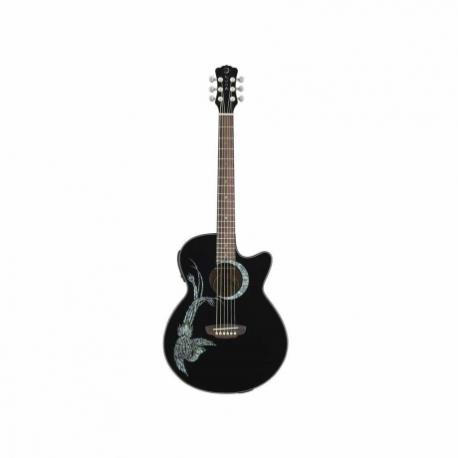 Guitarra Electroacustica LUNA GUITARRA ELECTROACUSTICA LUNA FAUNA PHOENIX NGA. MOD. FAU PHX BLK  8202885 - Envío Gratuito