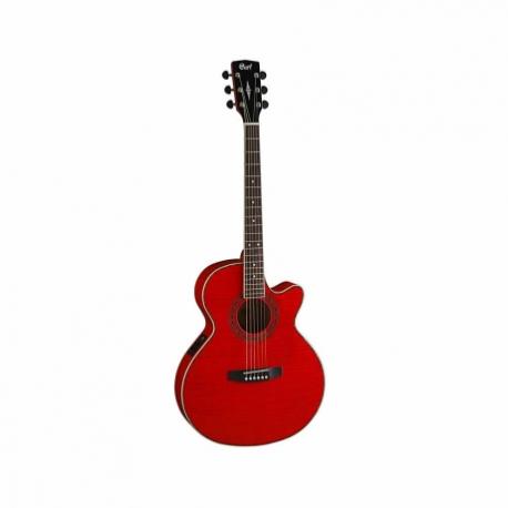 Guitarra Electroacustica CORT GUITARRA ELECTROACUSTICA SFX ROJA TRANSP.C/FDA MOD. SFX-FM TR  8213269 - Envío Gratuito