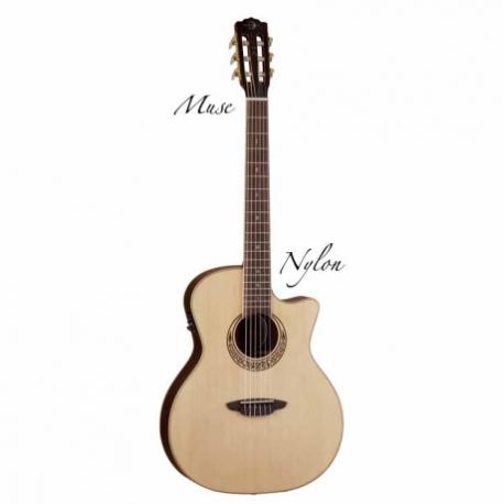 Guitarra Electroacustica LUNA GUITARRA ELECTROACUSTICA LUNA MUSE PARLOR NAT. MOD. MUS PAR B 8202890 - Envío Gratuito
