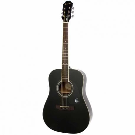 Guitarra Acústica EPIPHONE DR-100 Ebony Ch Hdwe EA10EBCH1 - Envío Gratuito