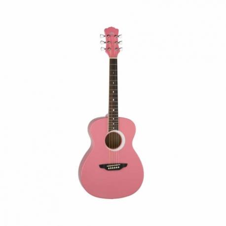 Guitarra Acústica LUNA GUITARRA ACUSTICA AURORA BOREAL BY LUNA, ROSA MOD. AR BOR PNK  7000249 - Envío Gratuito
