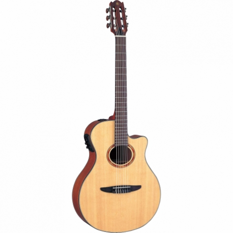 Guitarra Acústica YAMAHA Guitarra EA de cuerdas de nylon caja delgada (color natural y negro) GNTX700 - Envío Gratuito