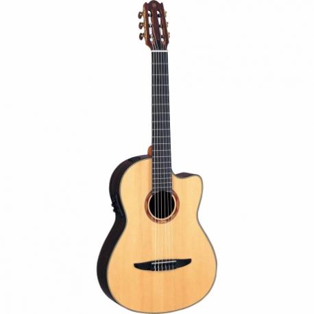 Guitarra Acústica YAMAHA Guitarra EA de cuerdas de nylon caja clásica, costados y caja de palo de rosa con estuche  GNCX1200R -