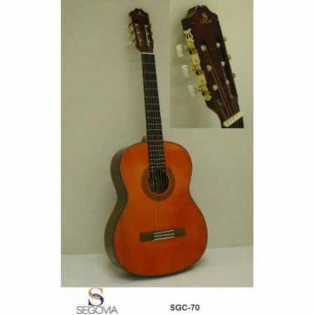 Guitarra Acústica SEGOVIA GUITARRA CLASICA ACUSTICA NATURAL EN CAOBA SGC-70 - Envío Gratuito