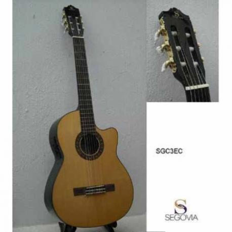 Guitarra Acústica SEGOVIA GUITARRA CLASICA E/ACUSTICA NATURAL C/ RESAQUE  SGC3EC - Envío Gratuito