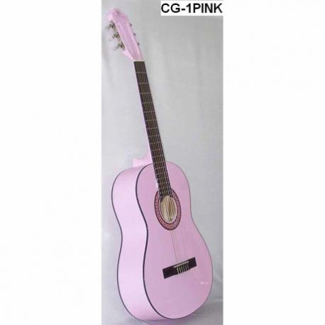 Guitarra Acústica SEGOVIA GUITARRA CLASICA ROSA LAMINADA CG-1PINK - Envío Gratuito