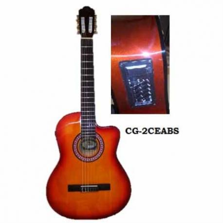 Guitarra Acústica SEGOVIA GUITARRA ELECTRO ACUSTICA AMARILLA C/ROJO DESVANECIDO CLASIC CG-2CEABS - Envío Gratuito