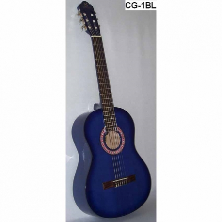 Guitarra Acústica SEGOVIA GUITARRA CLASICA CON RESAQUE AZUL MARINO  CG-1C BL - Envío Gratuito