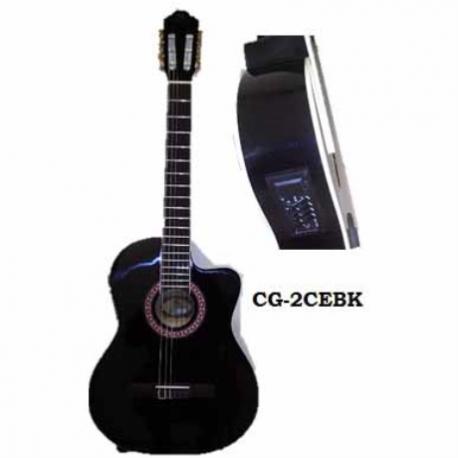 Guitarra Acústica SEGOVIA GUITARRA ELECTRO ACUSTICA NEGRA CLASICA  CG-2CEBK - Envío Gratuito