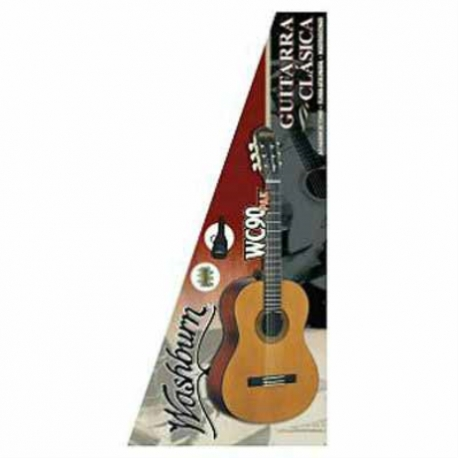 Guitarra Acústica WASHBURN GUITARRA WASHBURN CLASICA WC90PAK  ISWASWC90PAK - Envío Gratuito