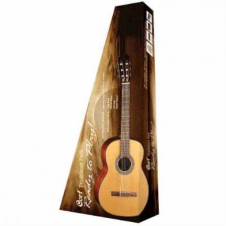 Guitarra Acústica CORT GUITARRA CLAS. T.PINO NAT. C/AFI/FUNDA MOD. CCP-10 MX NAT 7000376 - Envío Gratuito