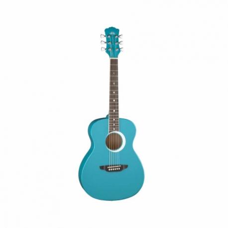 Guitarra Acústica LUNA GUITARRA ACUSTICA AURORA BOREAL BY LUNA, AQUA MOD. AR BOR TEAL  7000250 - Envío Gratuito