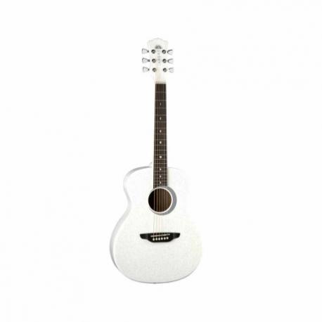 Guitarra Acústica LUNA GUITARRA ACUSTICA AURORA BOREAL BY LUNA, BCA. MOD. AR BOR WHT  7000251 - Envío Gratuito