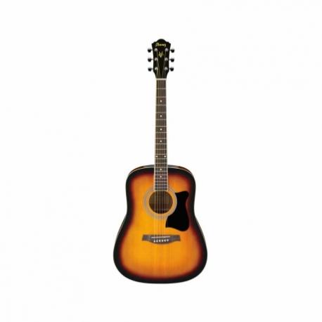 Guitarra Acústica IBANEZ GUITARRA ACUSTICA V50 JAMPACK SOMB.C/F MOD. V50NJP-VS  7000213 - Envío Gratuito
