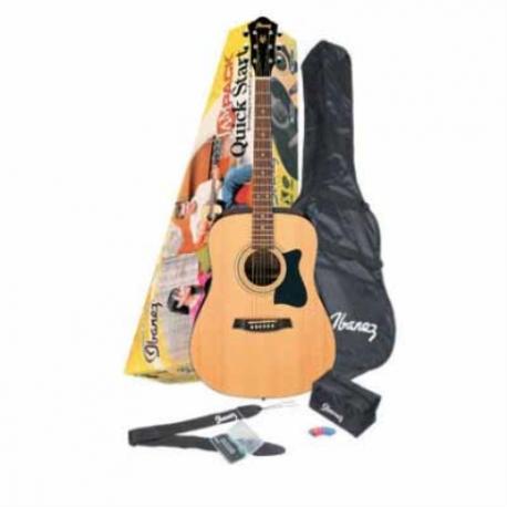 Guitarra Acústica IBANEZ GUITARRA ACUSTICA V50 JAMPACK NAT.C/F MOD. V50NJP-NT  7000215 - Envío Gratuito