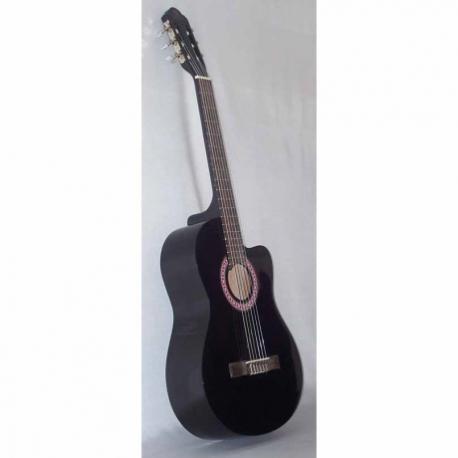 Guitarra Acústica SEGOVIA GUITARRA CLASICA CON RESAQUE NEGRA  CG-1CBK - Envío Gratuito