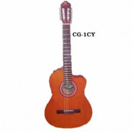 Guitarra Acústica SEGOVIA GUITARRA CLASICA CON RESAQUE TAPA AMARILLA CG-1CY - Envío Gratuito
