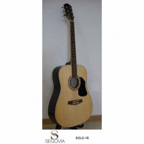 Guitarra Acústica SEGOVIA GUITARRA TEXANA NATURAL 6 CDAS METAL  SGLD-18 - Envío Gratuito